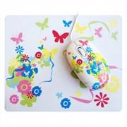 (1004051) Мышь сувенирная+ коврик CBR Fantasy, 1000 dpi, рисунок, USB, Fantasy