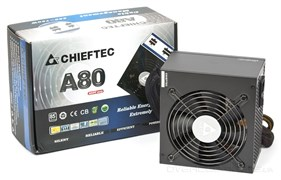 (99567)  Блок питания Chieftec A-80 CTG-650C (650Watt / 85+ only 230V / 120mm Fan / Модульный )