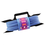 (1010529) PowerCube Шнур-удлинитель (PC-E1-F-30-R) 6А/1,3 кВт, 1 розетка, 30м, морозостойкий, на рамке