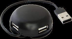 (192435) Концентратор Defender Quadro Light, 4 x USB 2.0, 83201