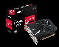 (1009799) Видеокарта MSI PCI-E RX 550 AERO ITX 2G OC AMD RX550 2048Mb 128b GDDR5 1203/7000 DVIx1/HDMIx1/DPx1/H